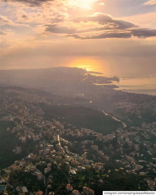 Beirut as seen from the mountains🙌 (Broumana)
